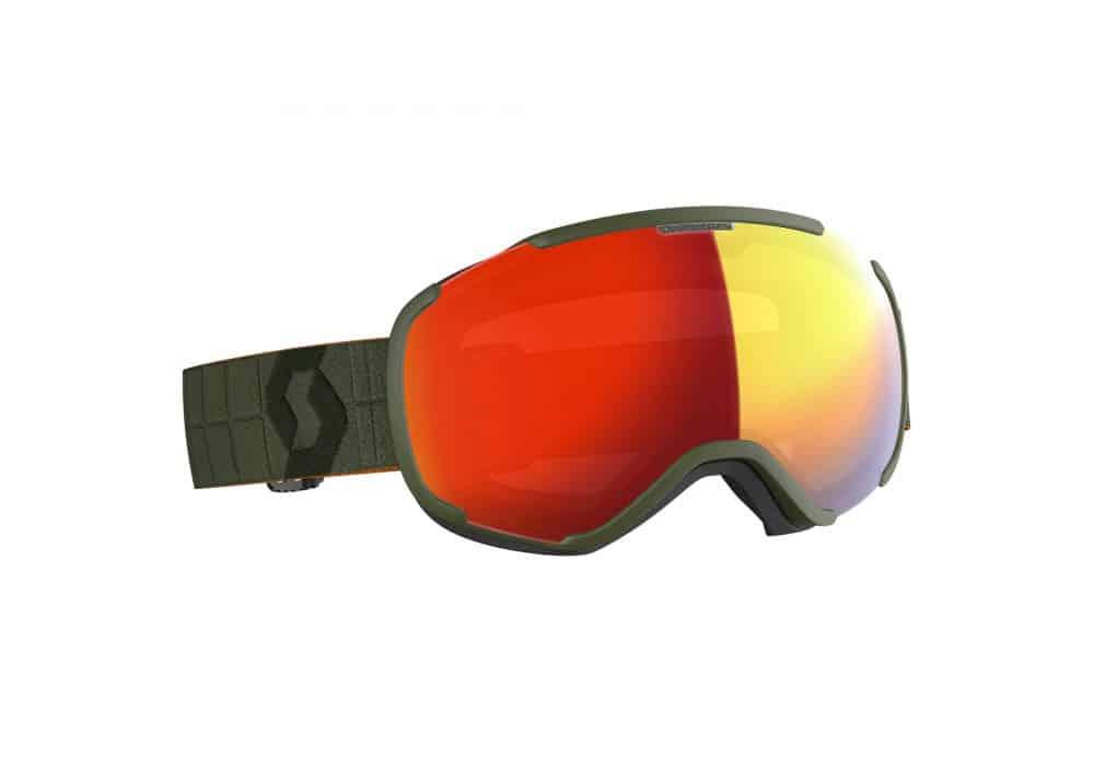 Scott Goggle Faze II Kaki Green/Enhancer Red Chrome