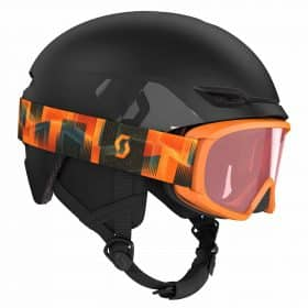 Scott Combo Helmet Keeper 2 + Goggle JR Witty Deep Violet
