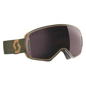 Scott Goggle LCG Dark Green-Brown/Enhancer Silver Chrome (Cat. S2)