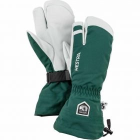 Hestra Army Leather Heli Ski Bottle Green - 3 Finger