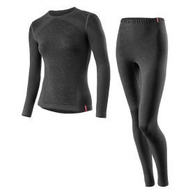 Loffler Women Set Long Transtex® Warm Seamless Black