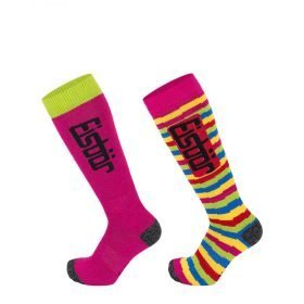Eisbar Comfort 2Pair Junior Girls - Fuchsia/Lime