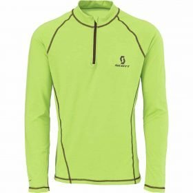 Scott 1/4 ZIP 8ZR0 Tech T-shirt Green Flash