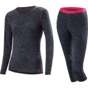 Loffler Women Set 3/4 Pants Transtex® Warm Grey Melange/Pink