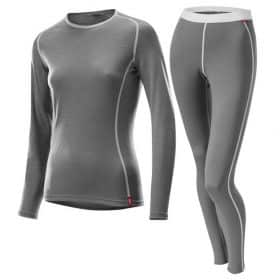 Loffler Women Set Long Transtex® Merino Grey Melange