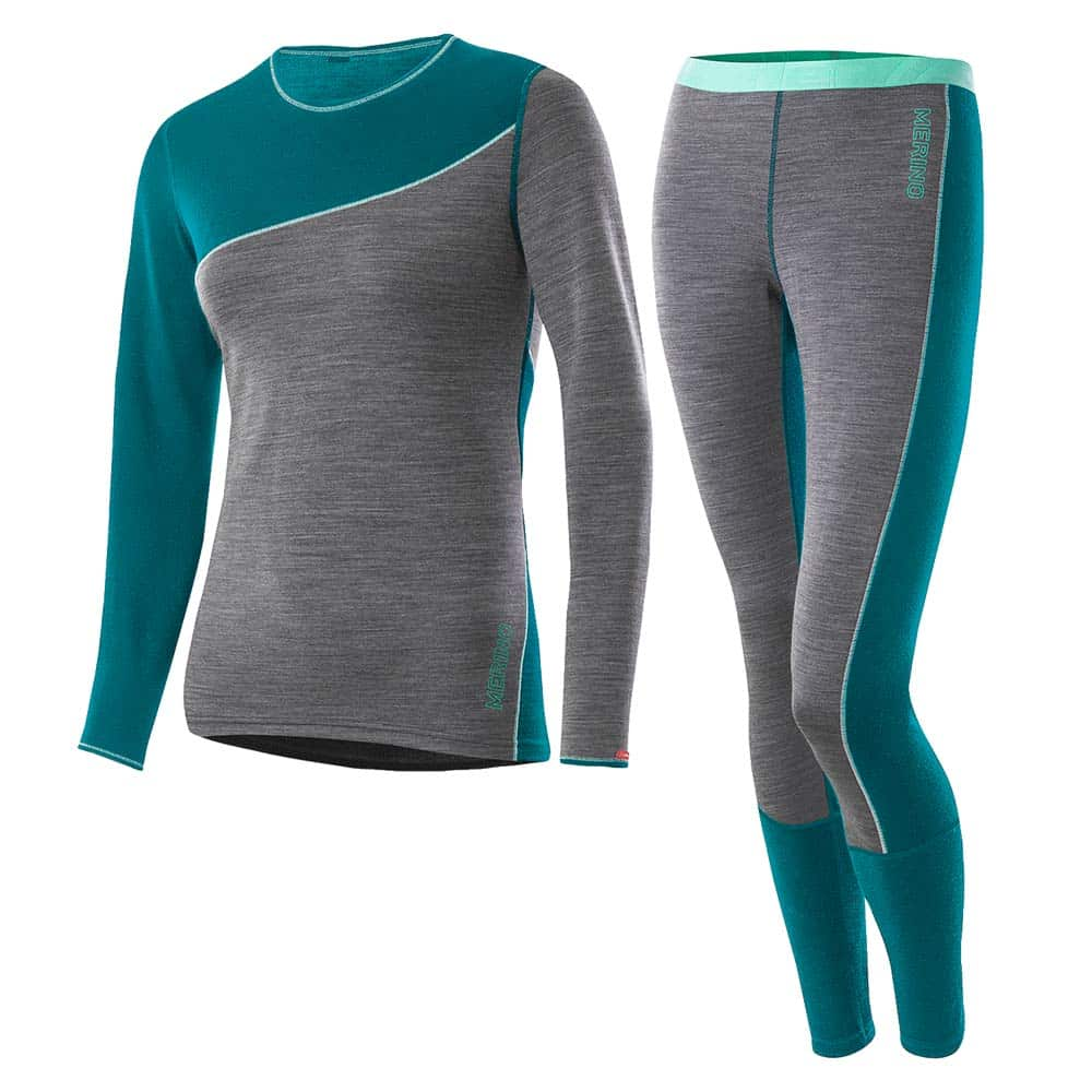 Loffler Women Set Long Transtex® Merino Lagoon