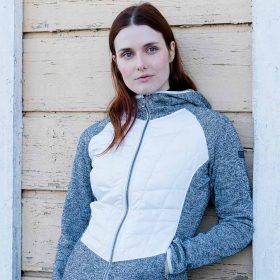 Halti Saaristo Women Mid Layer Jacket Nimbus Cloud