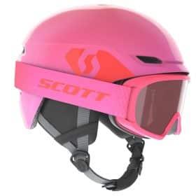 Scott Combo Helmet Junior Keeper 2+Goggle Junior Witty High Viz Pink