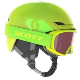 Scott Combo Helmet Junior Keeper 2+Goggle Junior Witty High Viz Green