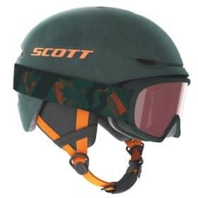 Scott Combo Helmet Junior Keeper 2+Goggle Junior Witty Sombre Green/Pumpkin Orange