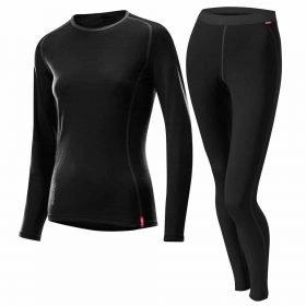 Loffler Women's Set Long Transtex® Merino Black