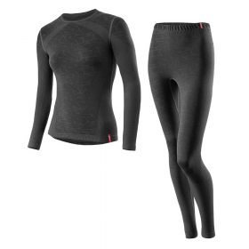 Loffler Women Set Long Transtex® Warm Seamless Black