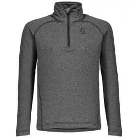 Scott 1/2 Zip Pullover Junior Defined Light Dark Grey Melange