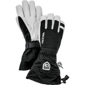 Hestra Army Leather Heli Ski Female Black/Off White - 5 Finger