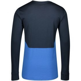 Scott Shirt Men Defined Merino L/SL Dark Blue/Skydive Blue