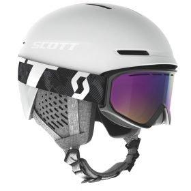 Scott Combo Helmet Track + Goggle Fact White