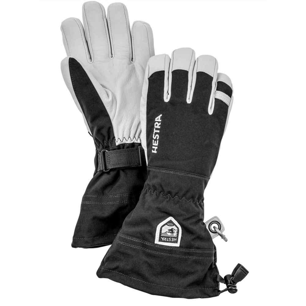 Hestra Army Leather Heli Ski Black - 5 Finger