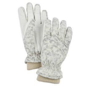 Hestra Women's Primaloft Rib Knit Off White - 5 Finger