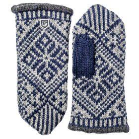 Hestra Nordic Wool Mitt Navy/Grey