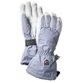 Hestra Heli Ski Female Glove Ice Blue/Off White