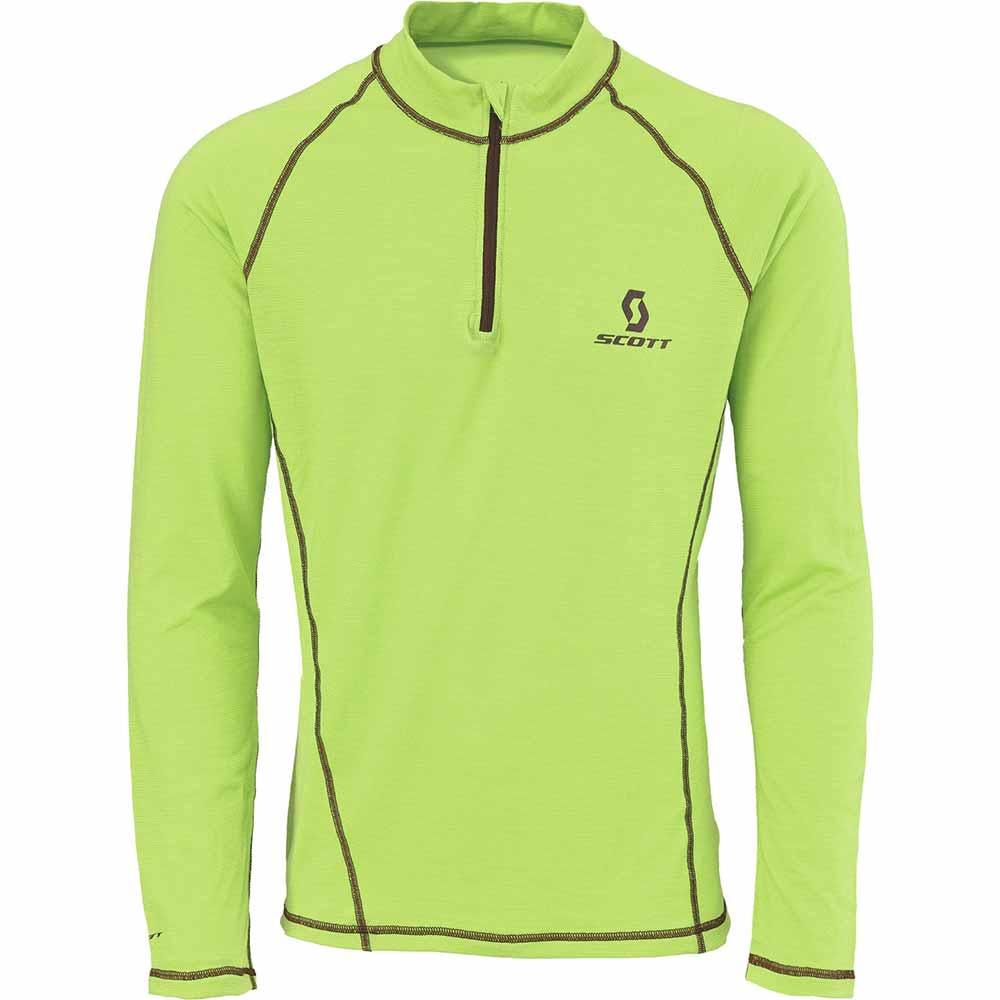 Scott 1/4 ZIP 8ZR0 Tech T-shirt Green Flash