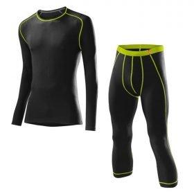 Loffler Men Set 3/4 Pants Transtex® Warm Black/Lime