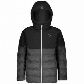 Scott Jacket Junior Ultimate Insulated Black/Drak Grey Melange