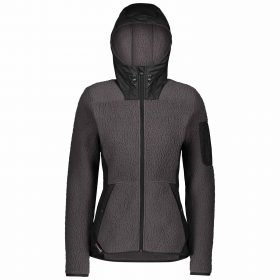 Scott Jacket Women Defined Polar Sherpa Black/Dark Grey Melange